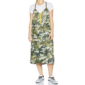 Nike Sportswear NSW green camo woven dress A0026